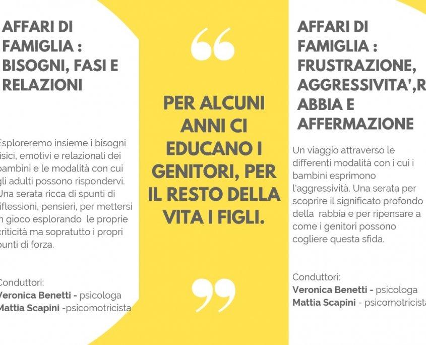 Psicomotricità Verona Affari di Famiglia - Serate Laboratoriali per Genitori 29.01-05.02.19