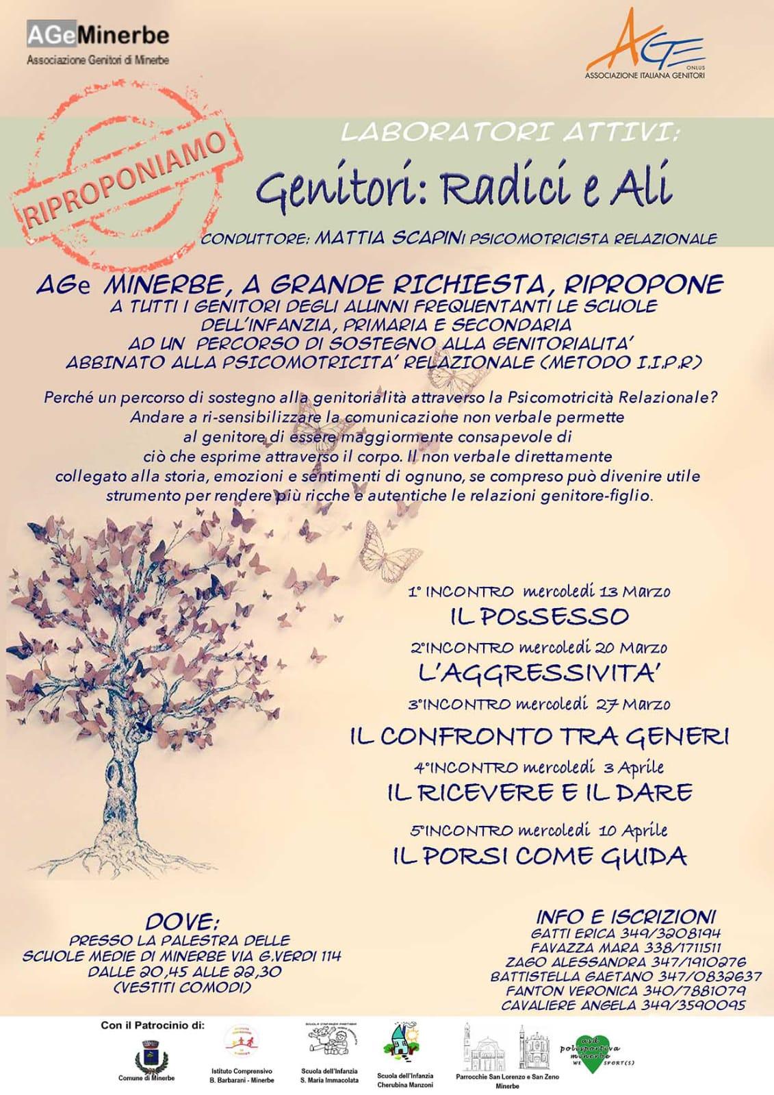 Psicomotricità Verona Genitori Radici e ali - Sostegno alla geitorialita - AGE 2019
