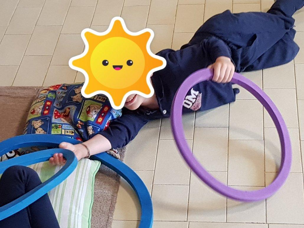 Psicomotricità Verona cerchio e bambino